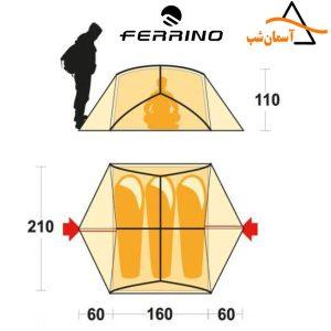 چادر اتم 3 فرینو ATOM 3 FERRINO TENT