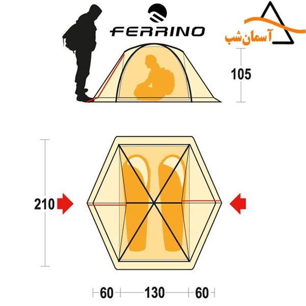 چادر گوبی 2 فرینو GOBI 2 FERRINO TENT