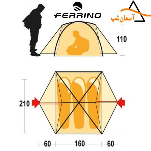 چادر گوبی 3 فرینو GOBI 3 FERRINO TENT