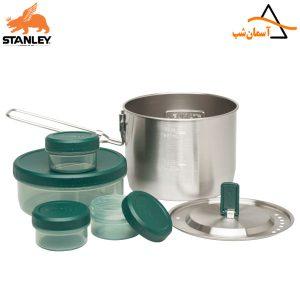 مجموعه ظرف غذا فلزی با ظروف پلاستیکی استنلی