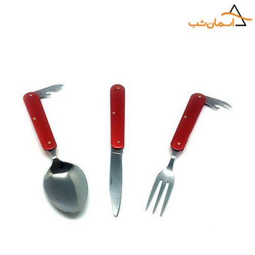 قاشق چنگال چاقو کوهنوردی